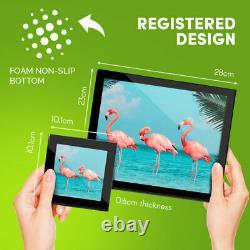 4x Glass Placemates & Coasters Pink Flamingo Birds Tropical Flock #21538