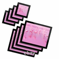 4x Glass Placemates & Coasters Pretty Pink Flamingo Birds #14346