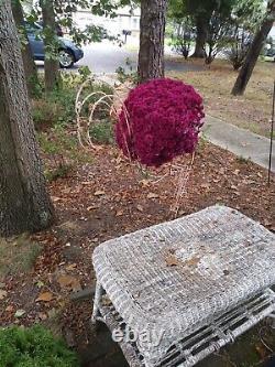 6' Pink Metal Flamingo Planter, Statue, Lawn Ornament 1-of-a-kind Vintage Autumn