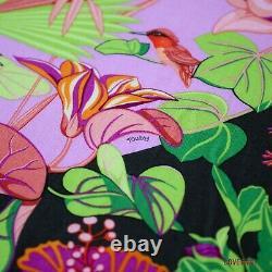 AUTHENTIC HERMES Flamingo Party 140cm Cashmere Bougainvillier with Box