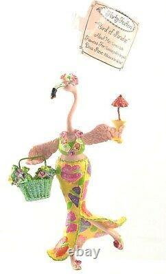 BIRD OF PARADISE Flirty Feathers Pink Flamingo Ornament Tag & Box New