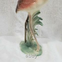 Brad Keeler Vintage mid-century Pink Flamingo Ceramic Figurine