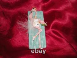 Celebirdie Pink Flamingo Flirty Feathers Ornament Christmas Gift (tag And Box)