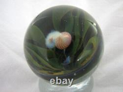 Davis Art Glass Marble Pink Flamingo Bird Everglades Lagoon Jungle Pennsboro WV