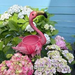 Flamingo Bird Planters Yard Statue Lawn Art Garden Porch Patio Outdoor Decor 2Pc