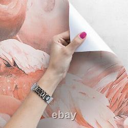 Flamingo Bird Tropical pink wall mural Removable Wallpaper Self Adhesive