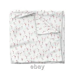 Flamingo Birds Zoo Kids Tropical Organic Pink Sateen Duvet Cover by Roostery