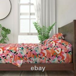 Flamingo Florida Resort Bird Tropical 100% Cotton Sateen Sheet Set by Roostery