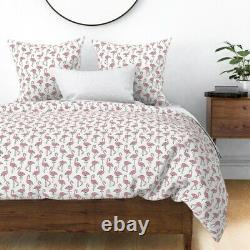 Flamingo Hawaii Birds Brazil Tropical Exotic Sateen Duvet Cover by Roostery