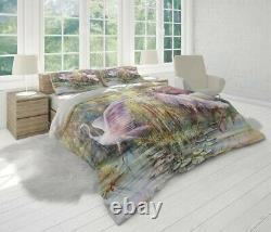 Flamingo Painting Animal Birds Pink Quilt Cover Single Double Queen King Size