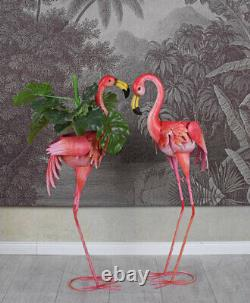 Flamingos Flamingo Couple Pond Animal Figurine XL Bird Garden Statue