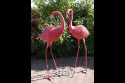 Giant Pink Metal Flamingo Garden Lawn Ornament Bird Statue Outdoor Pond