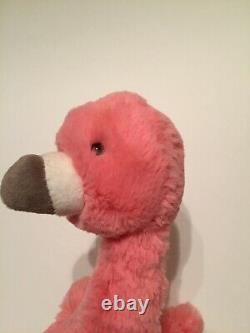 Jellycat Bashful Flamingo Soft Toy Pink Medium Plush New Gray Tag Bird Comforter
