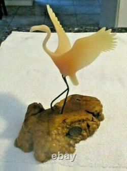 John Perry Art Studios Vintage Resin Pink Flamingo Figurine