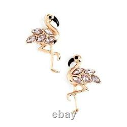Kate Spade Bird's The Word Flamingo Earrings NWT Rose Gold Witty Plumy Bird
