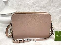 Kate Spade Flaming bag Crossbody Soft leather Camera Double zip Pink