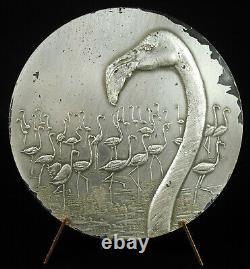 Medaille Volumen Von Pink Flamingos Flight Of 1971 Animal Bird Vogel