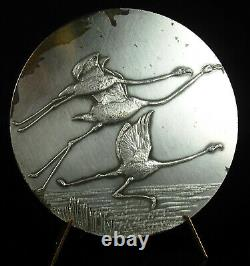 Medal Volume Of Pink Flamingos Flight Of Flamingo 1971 Animal Bird Medal