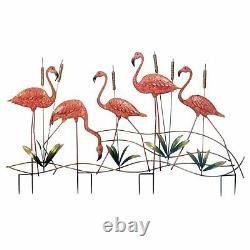 Multi flamingo Garden Stakes 10018330