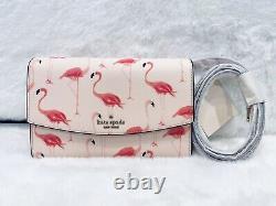 NWT Kate Spade Flamingo Winni Crossbody, Beach Pool Travel Tropical Pink Festive