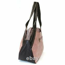 New Chala Bowling Tote Large Shoulder Bag Rose Pink Pleather gift PELICAN Bies