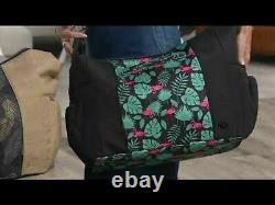 New Lug Travel SHUFFLE TOTE X- Large Huge Bag RFID Trolley Strap FLAMINGO BLACK