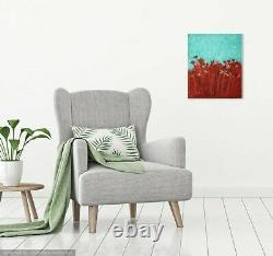 Original oil painting on canvas. Signed. Pink Flamingos