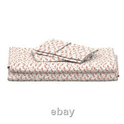 Pink Flamingo Baby Girl Flamingos Flock 100% Cotton Sateen Sheet Set by Roostery