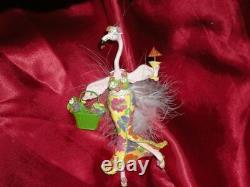 Pink Flamingo Flirty Feathers Ornament Bird Of Paradise (no Tag No Box)