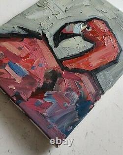 Pink Flamingo Impressionist Oil Painting By Artist Vivek Mandalia 11 X 14