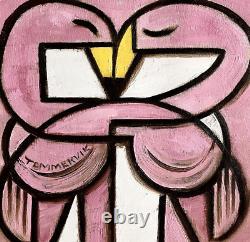 Pink Flamingo Paintings Exotic Birds Flamingo Wall Art Artwork Bird Picture