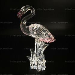 RARE Retired Swarovski Crystal Pink Flamingo 289733 Bird Mint Boxed