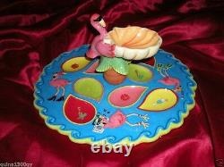 Redneck Christmas Pink Flamingo Oyster, Deviled Eggs, Party Serving Platter Tray
