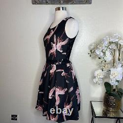 Rinascimento Womens Black & Pink Flamingo Design Dress Size S Pre-owned