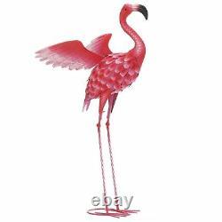 Summerfield Terrace Flying Flamingo Metal Garden Decor-34 inches