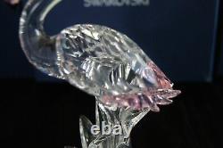 Swarovski Austrian Crystal Clear Pink Flamingo Bird Figurine Mint Original Box