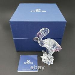 Swarovski Austrian Crystal Pink Flamingo Retired Figurine With Box/Certificate