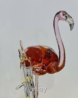 Swarovski Beautiful & Elegant Pink Flamingo Birds Of Paradise