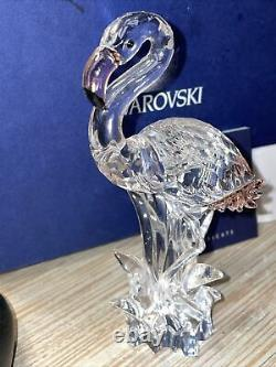 Swarovski Swan Signed Pink Crystal Flamingo Figurine