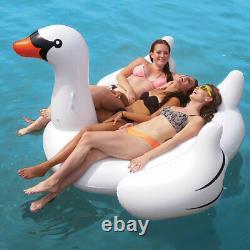Swimline Giant Swan & Flamingo Bird Ride On Swimming Pool Float Combo Pack
