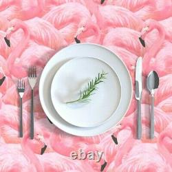 Tablecloth Vintage Flamingo Pink Birds Flamingos Island Summer Cotton Sateen
