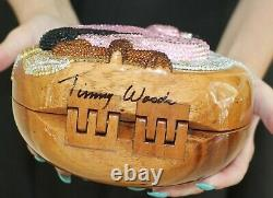 Timmy Woods Shoulder Bag Swarovski Crystal Tropical Flamingo pink bird purse
