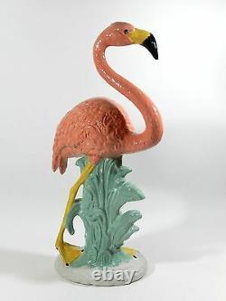 Vintage Ceramic Flamingo 32'' Tall