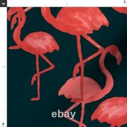 Vintage Flamingo Tropical Retro Birds Pink 50 Wide Curtain Panel by Roostery