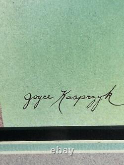 Vintage Joyce Kasprzyk Flamingo Lithograph Print Signed