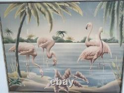 Vintage Mid-Century Modern 1950's Turner Pink Flamingo Print