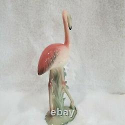 Vintage, mid-century Art Deco Style Pink Flamingo Ceramic Figurine Brad Keeler