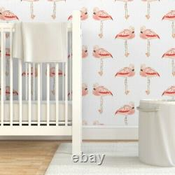 Wallpaper Roll Flamingo Tropical Bird Watercolor Pink Coral Animal 24in x 27ft
